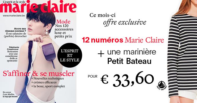 abonnement Marie Claire Petit Bateau