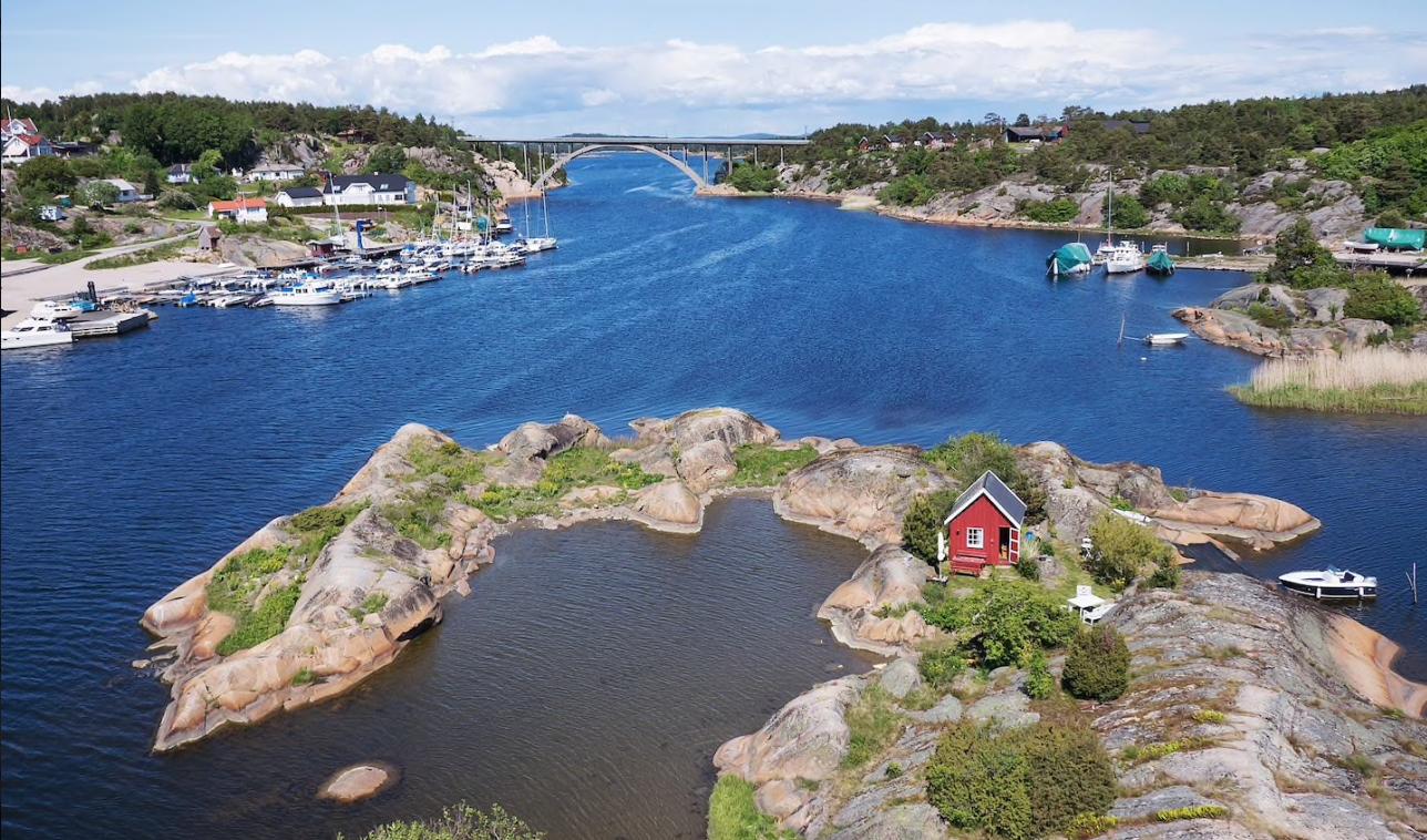 maisonnette sur une île privée