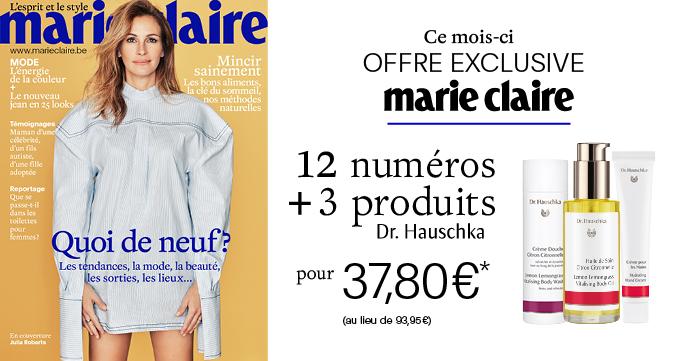 abonnement Marie Claire Dr Hauschka