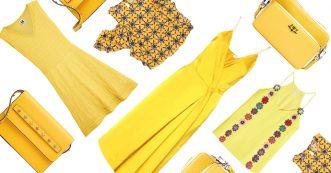 shopping jaune
