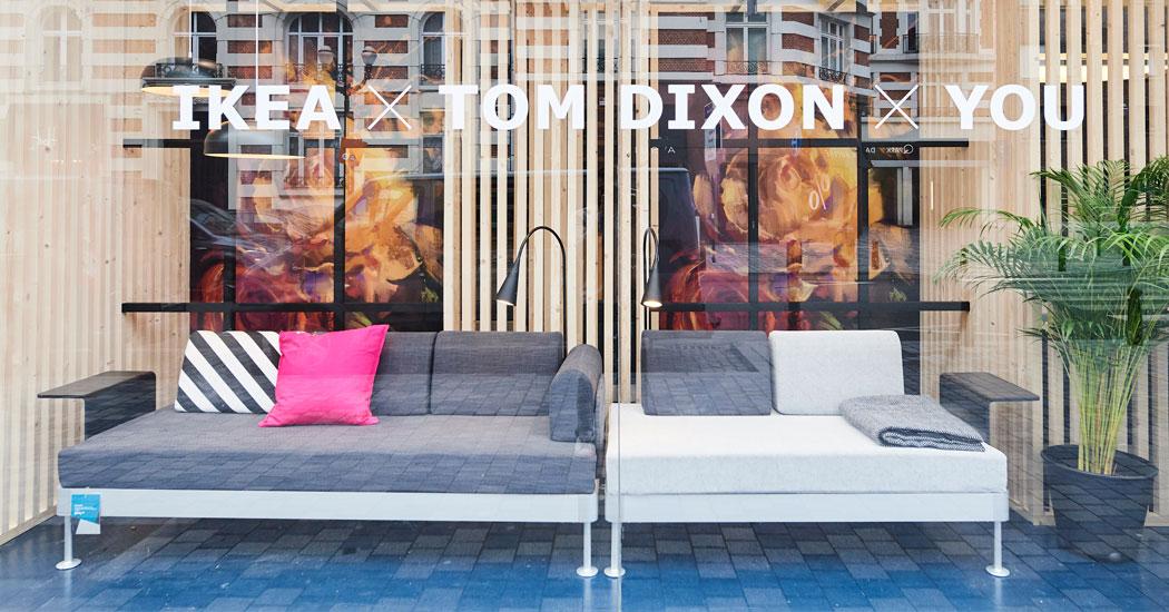 ikea x tom dixon une collab 39 sur canap voir dans le quartier dansaert marie claire. Black Bedroom Furniture Sets. Home Design Ideas