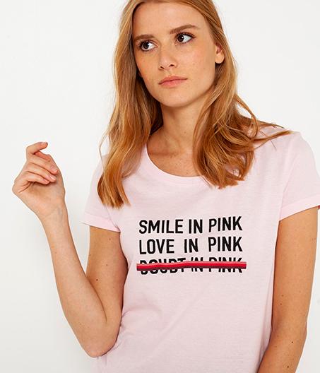 octobre rose t-shirt camaïeu