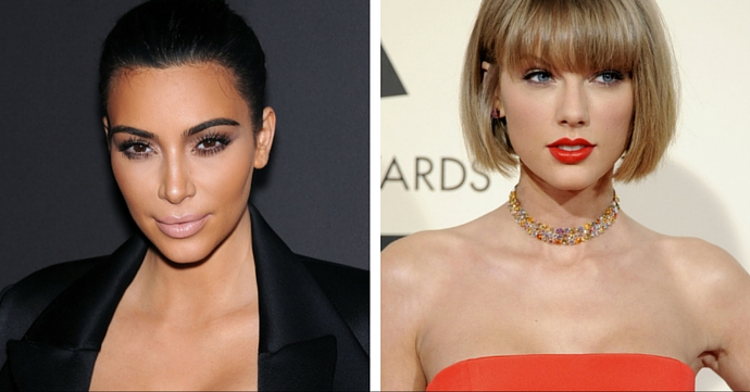 Kim Kardashian Taylor Swift Marie Claire