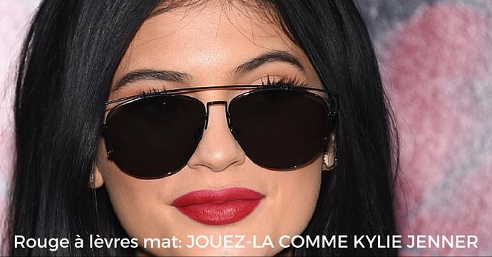 kylie Jenner levres mattes titre