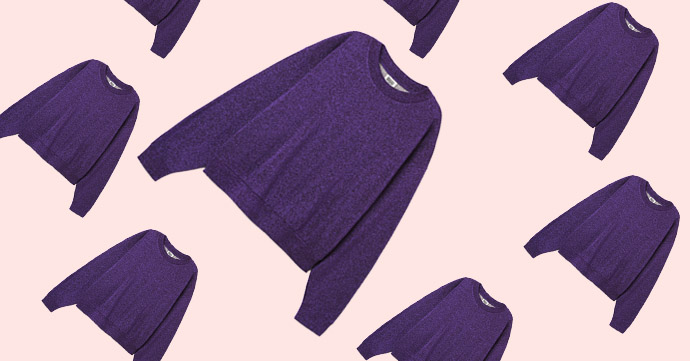 Crush of the Day: le sweater irisé Weekday