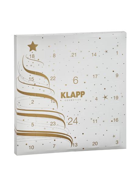 Le calendrier Klapp est, à l'instar de Babor, une cure de 24 jours de soins nourrissants pour le visage. Compliments assurés le soir du réveillon! Klapp Cosmetics, € 69 dans les instituts Klapp