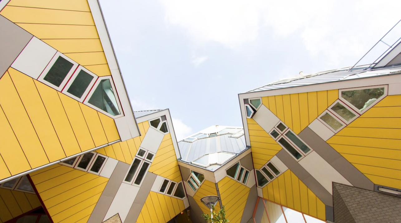 façade de la maison cube à Rotterdam
