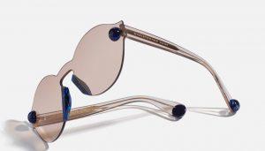 lunettes de soleil effet miroir Christopher Kane
