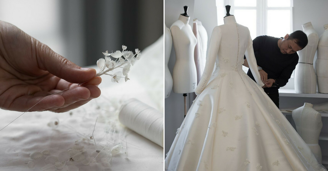Dior dévoile les coulisses de la fabrication de la robe de mariée de Miranda Kerr