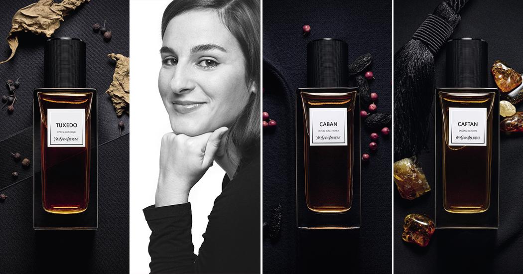 Le dressing Saint Laurent revisité en 5 parfums: rencontre avec Juliette Karagueuzoglou, créatrice du TUXEDO