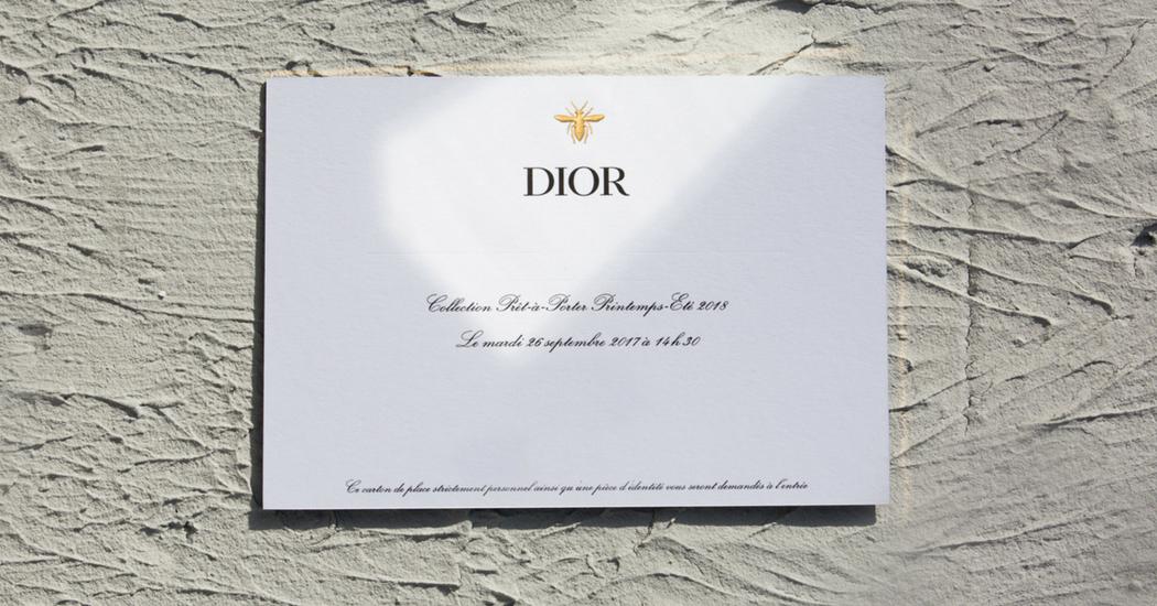 Le défilé Dior printemps-été 2018 en live, c'est à 15h et c'est ici!