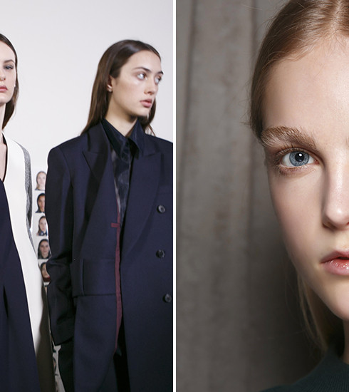 Le look « no make-up » du défilé Victoria Beckham AW17