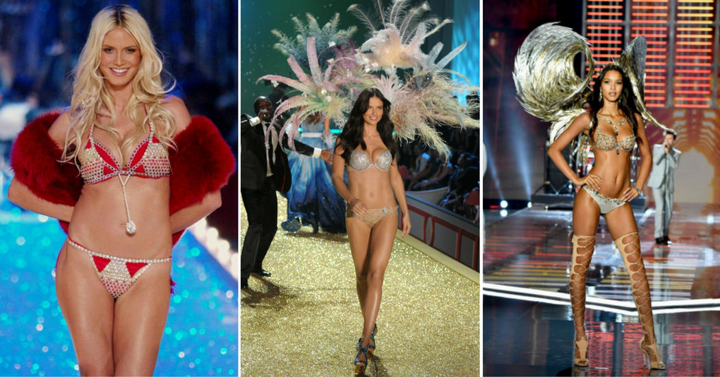 En images: l'évolution du Fantasy Bra de Victoria's Secret de 2001 à 2018