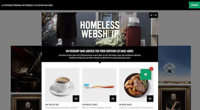 Homeless webshop solidarité grands froids sans-abris
