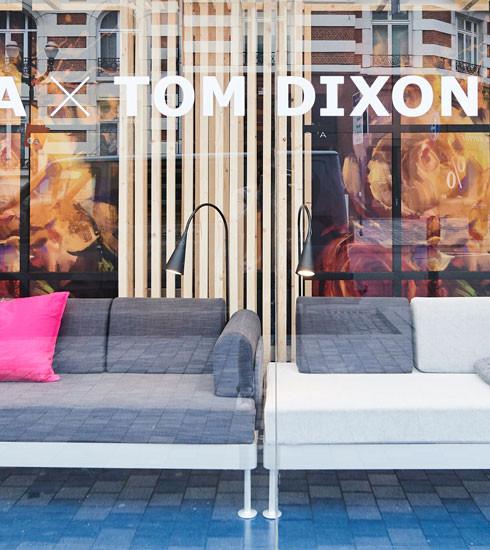 IKEA x Tom Dixon: une collab' sur canapé à voir dans le quartier Dansaert