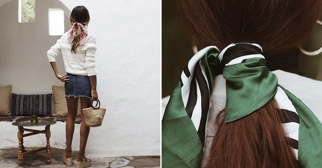 Coiffure  cet été le foulard se portera dans nos cheveux. par Emilie  Gharbi. le 01 05 2018 02 05 2018. marieclaire foulard cheveux 1939a4d7474