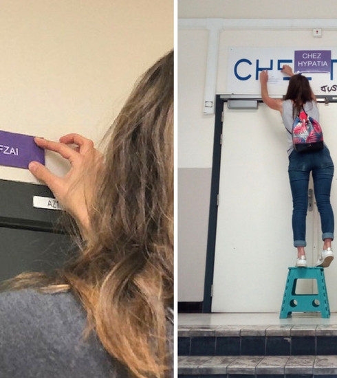 La collective «Noms peut-être» et des étudiantes rebaptisent les auditoires de l'ULB par des noms féminins