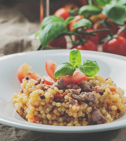 Le lunch parfait: la salade de fregola à l'italienne