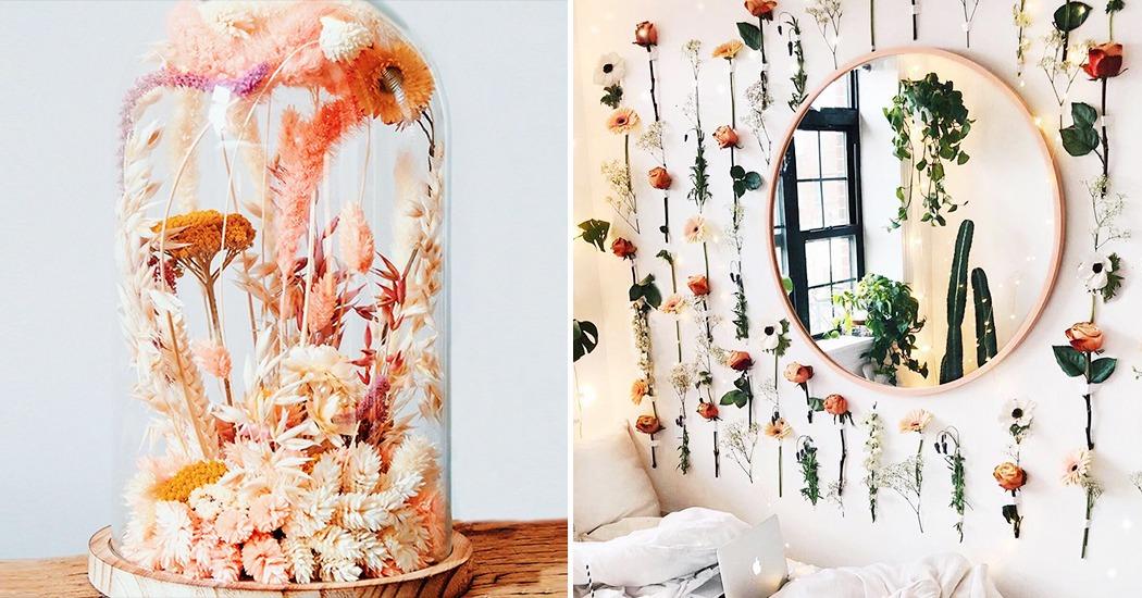 6 idées déco pour introduire les fleurs séchées dans son intérieur
