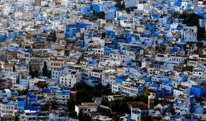 Chefchaouen, ville bleue au Maroc