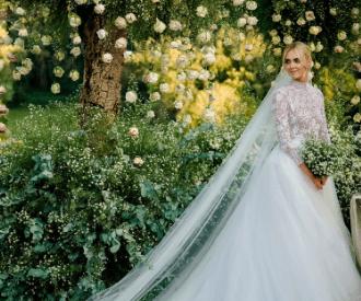 Chiara Ferragni en robe de mariée