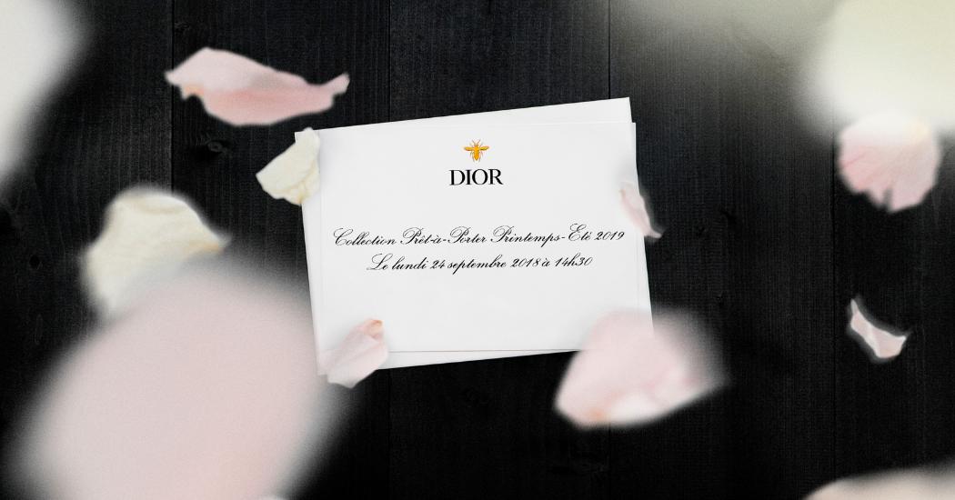 Livestream: le défilé Christian Dior Printemps-Eté 2019 comme si vous y étiez