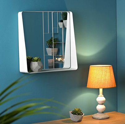 Miroir en métal casa