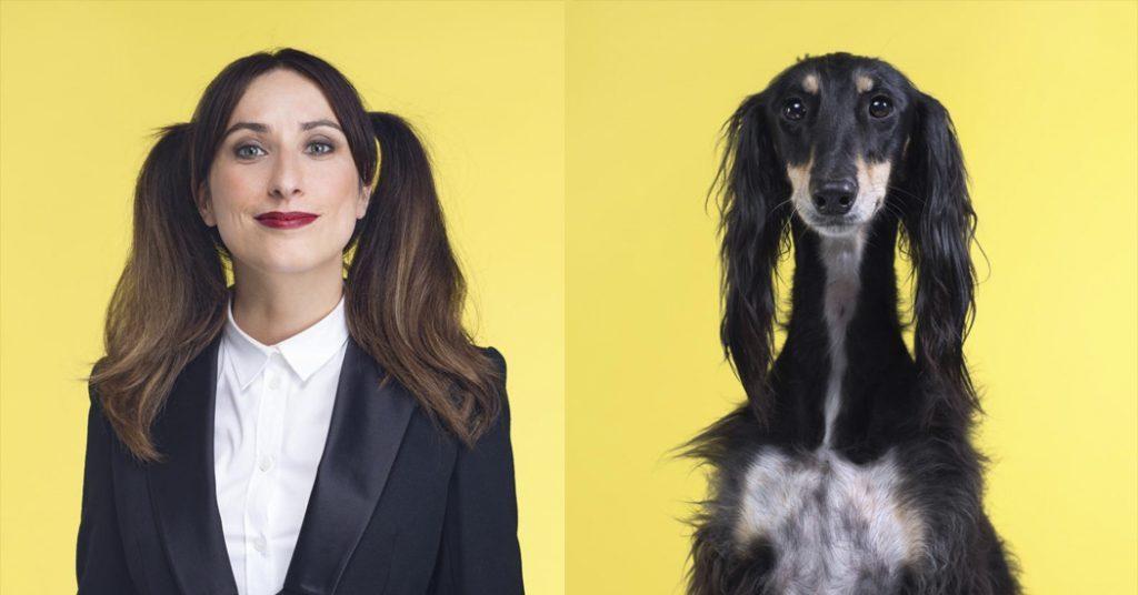 photo sosie femme et chien