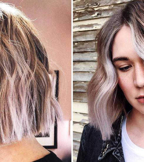 Les cheveux lilas-vanille, la tendance lumineuse parfaite pour l'automne