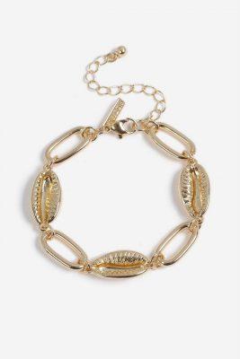 bracelet doré topshop