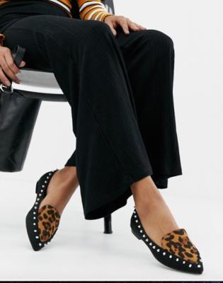 Chaussures plates à imprimé léopard