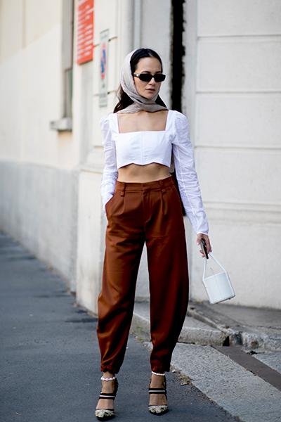 tendance du voile dans la fashion week de Milan