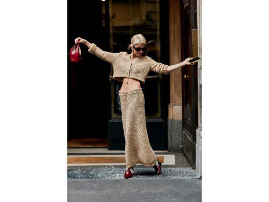 beige tendance fashion week de Milan