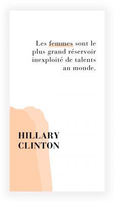 citation féministe de Hillary Clinton