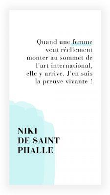 citation féministe de Niki de Saint Phalle