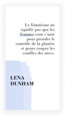 citation féministe de Lena Dunham