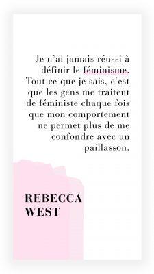 citation féministe de Rebecca West