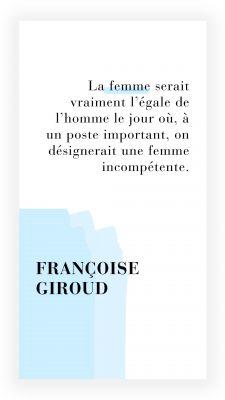 citation féministe de Francoise Giroud
