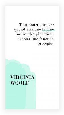 citation féministe de Virginia Woolf
