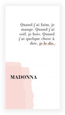 citation féministe de Madonna
