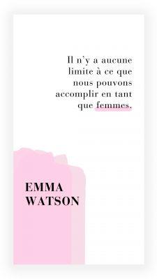 citation féministe de Emma Watson