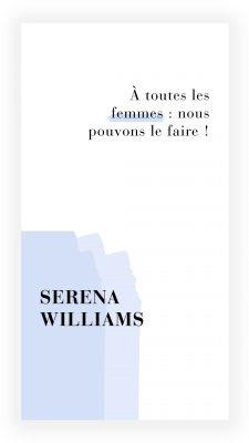 citation féministe de Serena Williams