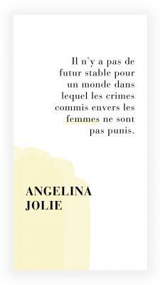 citation féministe de Angelina Jolie