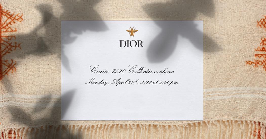 Livestream : le défilé Dior Cruise à Marrakech comme si vous y étiez à 21h30