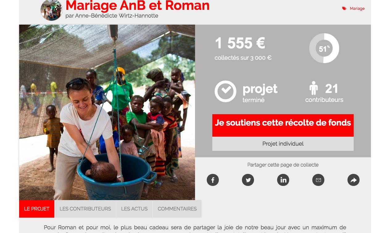 Et pourquoi pas une liste de mariage solidaire avec Médecins Sans Frontière ? - 1
