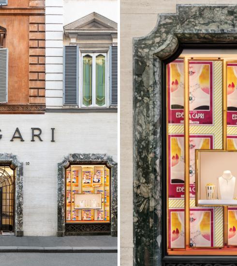 Bvlgari décore ses vitrines façon cinéma des années 50 et on craque complètement !