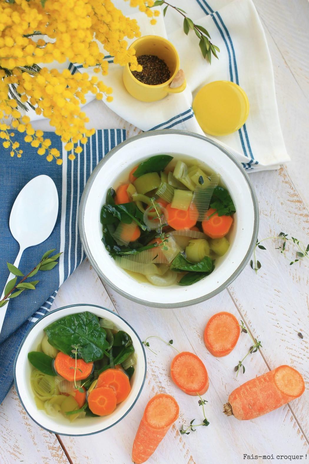 soupe détox bouillon