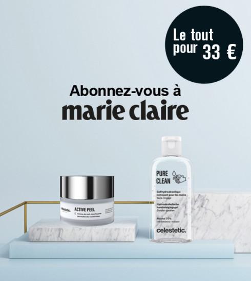 Marie Claire pendant un an + un set de 2 produits Celestetic