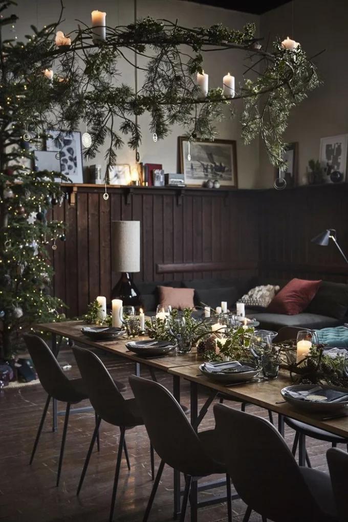 Table de Noël : 10 inspirations pour succomber au charme du décor suspendu - 5