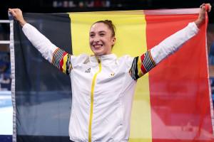 Nina Derwael drapeau belgique